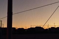 学校の夕焼け